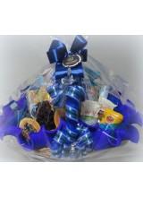 cesta de café da manhã diet cor azul marinho embalada
