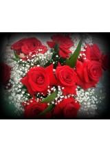 buque de rosas vermelhas 12 unidades