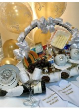 cesta de bodas de ouro e bodas de prata