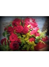 buque de rosas vermelhas nacionais com 24 rosas