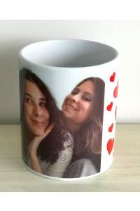 Caneca personalizada com foto das irmãs