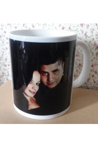 caneca personalizada com a foto do casal